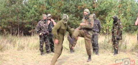 Тренування бійців добровольчого батальйону «Крим»