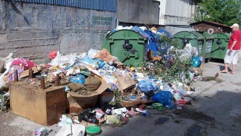 Свалка у мусорных контейнеров