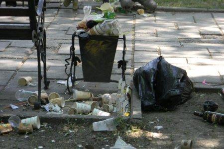 Урна в центре Симферополя