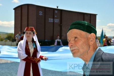 Митинг-реквием на станции Сирень, Крым. Фото:Крыминформ