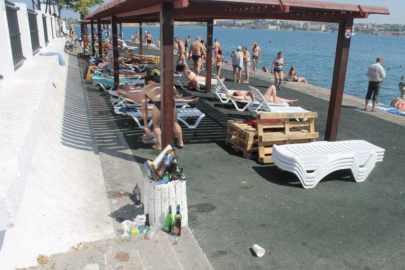мусор пляж