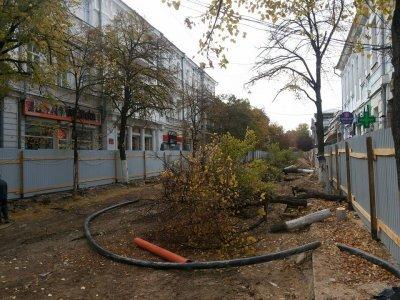 Улица Пушкина без деревьев
