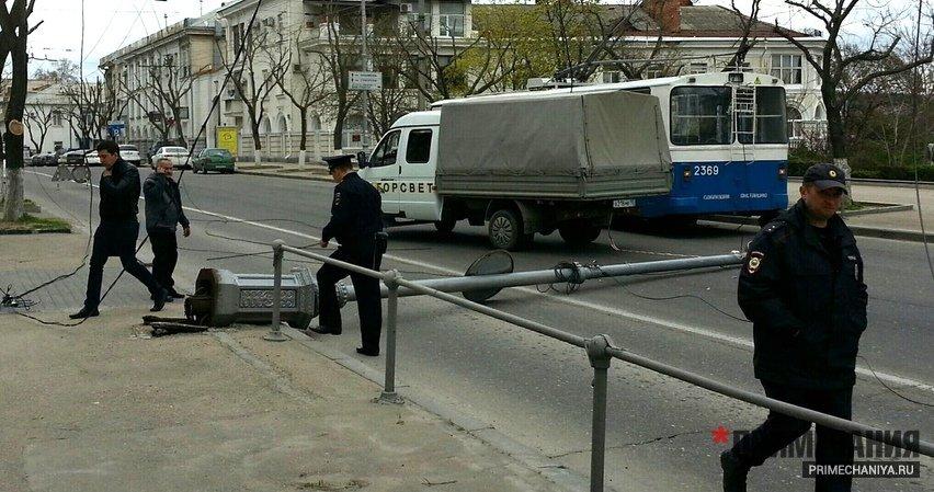 опоры троллейбус севас