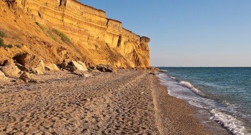 пляж оползень