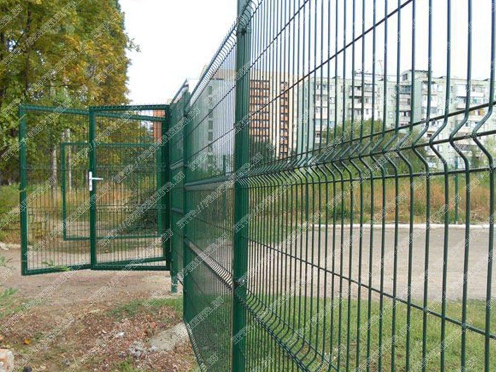 забор школа
